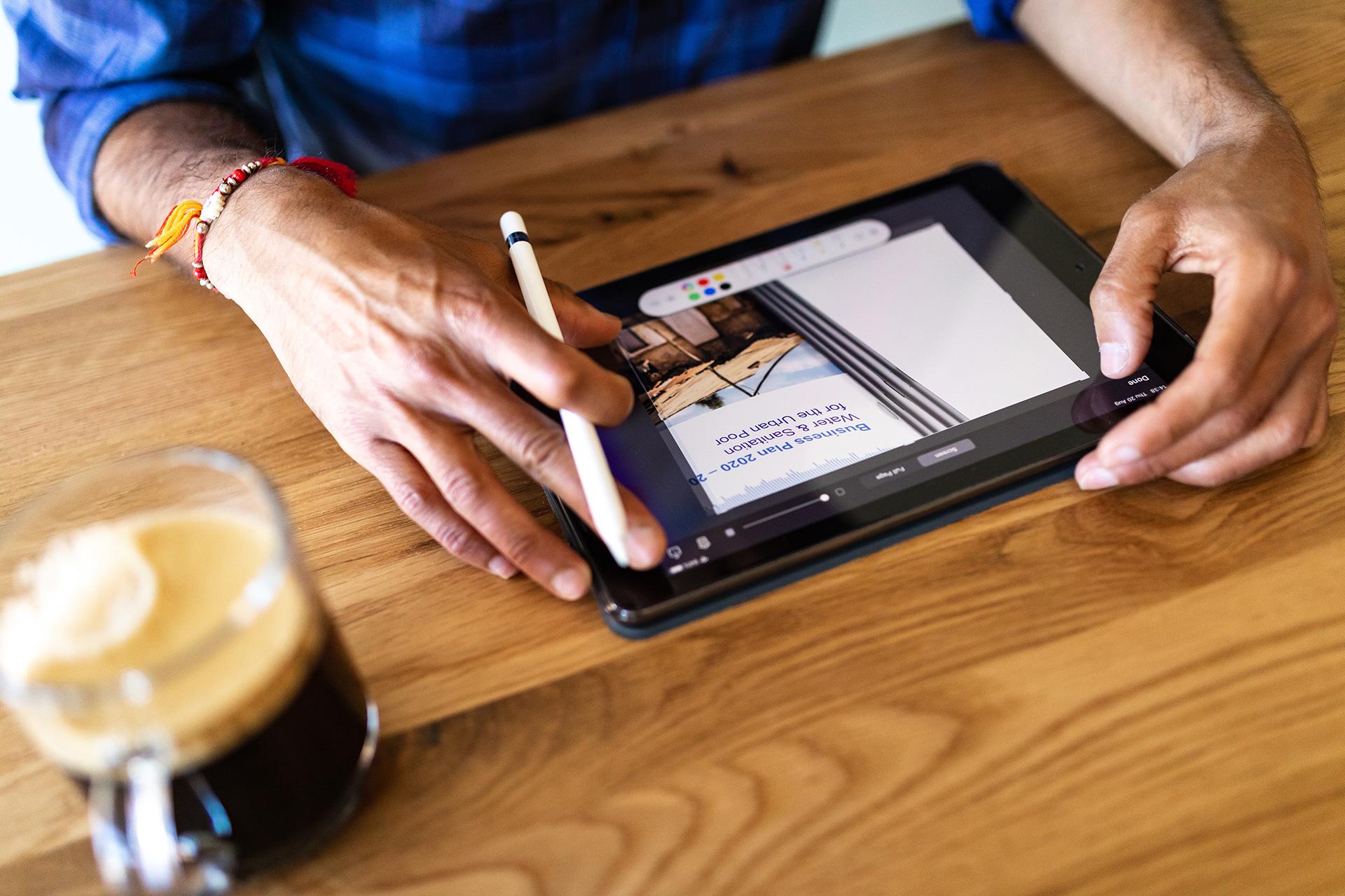 iPad, design work image